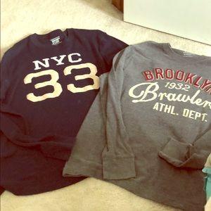 NYC and Brooklyn Long Sleeve Shirts